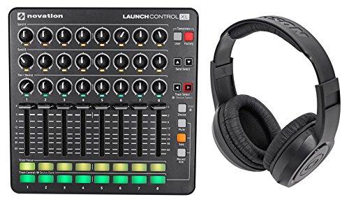 Novation Launch Control XL MIDI USB Ableton Live Controller + Samson Headphones