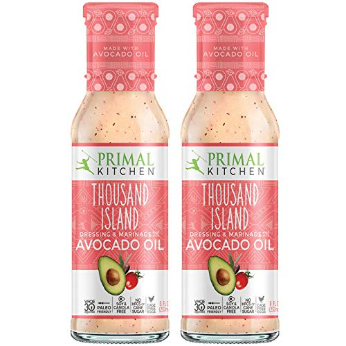 Primal Kitchen Avocado Oil Thousand Island Salad Dressing & Marinade, Whole 30 Approved & Paleo Friendly - Two Pack (8 fl oz)