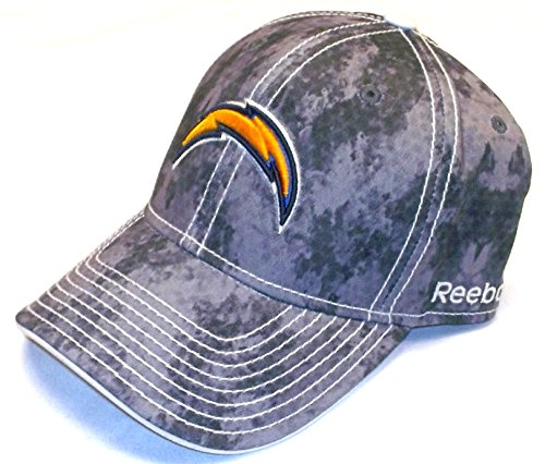 Adult Reebok Equipment Hat - Reebok San Diego Chargers 2nd Season Flex Camouflage HAT - Size L/XL- TS43Z