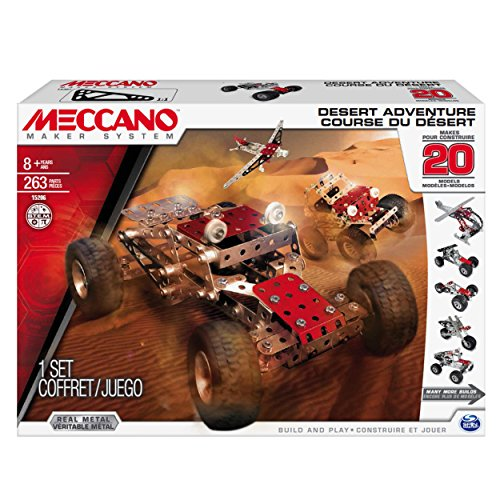 Meccano Desert Adventure Set, 20 Model Building Set, 260 Pieces, For Ages 8+, STEM Construction Education Toy