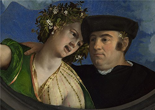 'Dosso Dossi A Man Embracing A Woman ' Oil Painting, 10 X 14