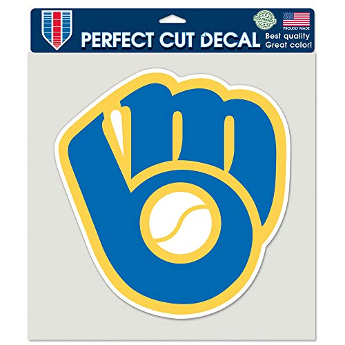 (Wincraft MLB Milwaukee Brewers 45115011 Perfect Cut Color Decal, 8