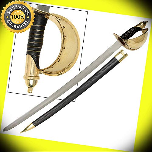 (1860 Naval Military Civil War U.S Cutlass Reproduction Sabre Sword perfect for cosplay outdoor camping)