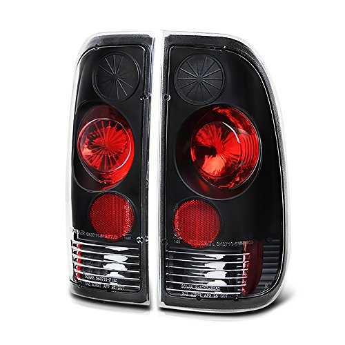 VIPMOTOZ Altezza Euro Style Tail Light Lamp For 1997-2003 Ford F-150, 1999-2007 Ford Superduty F-250 F-350 Pickup Truck - Black Housing, Driver and Passenger Side (F-250 Pickup Ford 1999)