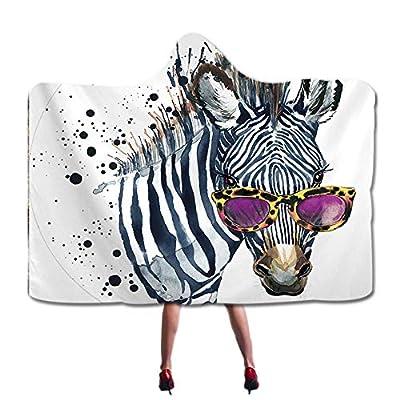 Wearable Hooded Blanket Fashion 3D Printed Design Sherpa Fleece Cozy Blanket with Hood Adults Kids Blankets, Pattern 60x80 Inch(150x200cm) Animal