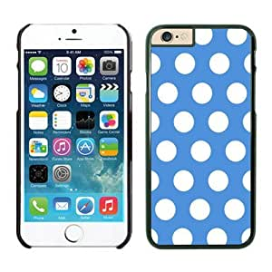 Iphone 6 Cases;cute Iphone 6 Case,polka Dot Blue and White Iphone 6 Plus Cases Black Cover