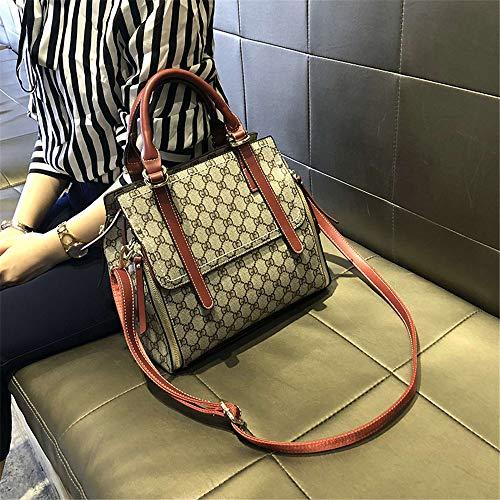 LANDONA nouvelle atmosphère sauvage de la mode coréenne grand fourre-tout grande capacité marée sac à main sac à bandoulière sac à main - rouge