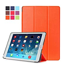 Protection Housse pour Apple iPad Air 2 9.7 Pouce Smart Slim Case Book Cover Stand Flip iPad 6 (Orange) NEUF