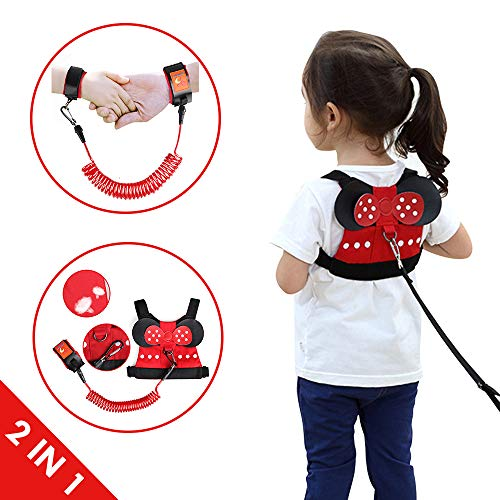 - Lehoo Castle Toddler Leash for Walking, Toddler Safety Harnesses Leashes, Safety Harness for Kids, Anti Lost Wrist Link Safety Wrist Link for Toddlers Minnie