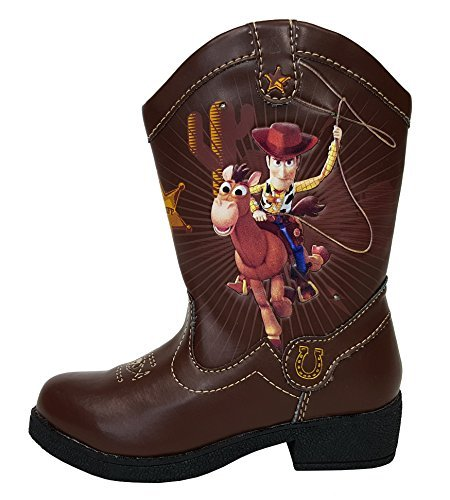 Toy Story Woody Boots (Disney Pixar Toy Story II Woody Light Up Toddler Boys Cowboy Boots)