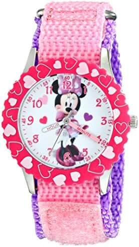 Disney Kids' W001919 Minnie Mouse Analog Display Analog Quartz Pink Watch