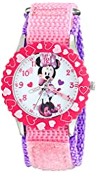 Disney Kids' W001919 Minnie Mouse Analog Display Analog Quartz Pink Watch