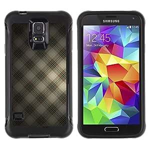 All-Round híbrido Heavy Duty de goma duro caso cubierta protectora Accesorio Generación-II BY RAYDREAMMM - Samsung Galaxy S5 SM-G900 - Squares Fabric Design Textile Wallpaper
