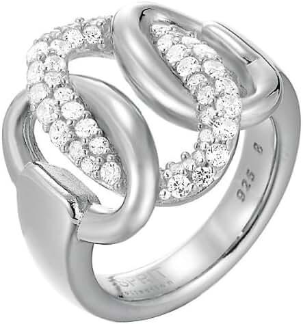 ESPRIT Women's Ring Sterling Silver Zirconium Oxide 13.7 G