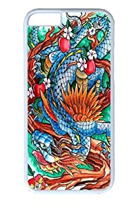 Case Cover For Ipod Touch 5 Dragon II Polycarbonate Hard Case Back Case Cover For Ipod Touch 5 White