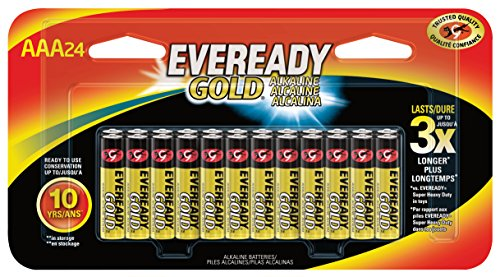 Eveready Gold Battery, AAA, 24-Pack