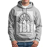 Arch Structure Church Pocket Hoodie Coats Sweatshirt Jacket