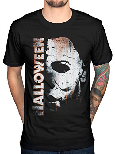 Official Halloween Michael Myers Mask and Drips T-Shirt Horror Film Movie ()