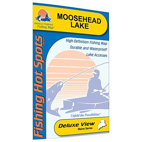 Moosehead Lake Fishing Map by Fishing Hot Spots
