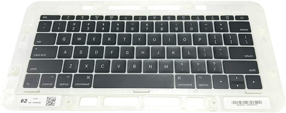 Willhom Keyboard Keys, Keycap US Set Replacement for MacBook Pro 13-inch Function Keys A1708 2016 2017