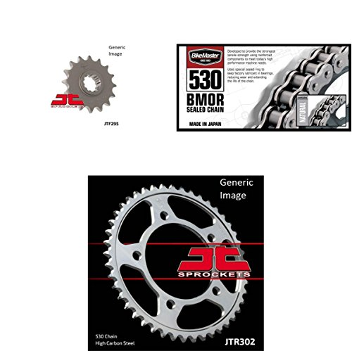 Honda Cbr600f3 Rear Sprocket - BIKEMASTER 530 BMOR Sealed Chain Natural, JT Front & Rear Sprocket Kit for Street HONDA CBR600F3 1995-1996