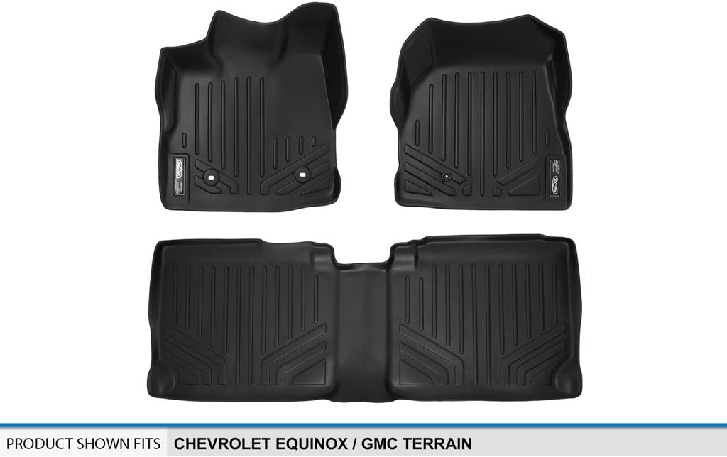 2010-2011 1st Row Set MAXLINER A0070 Floor Mats for Chevrolet Equinox//GMC Terrain Dual Hooks Black