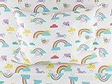 Where The Polka Dots Roam Rainbows and Unicorn Twin Size Sheets, 3 Piece Sheet Set for Girls, Ultra Soft Microfiber