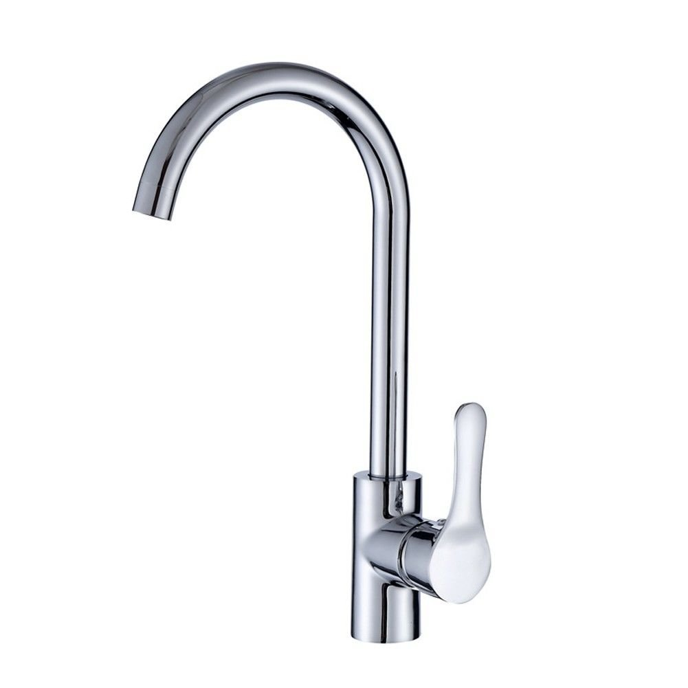 SADASD Modern Bathroom Basin Faucet Copper redating Single Washbasin Sink Taps Ceramic Valve Single Hole Single Handle Hot and Cold Mixer Tap With G1 2 Hose