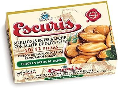 MEJILLONES ESCURIS EN ESCABECHE 10/12 R-120: Amazon.es: Alimentación y bebidas