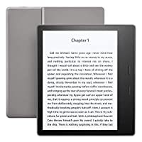 "Kindle Oasis E-reader: grafito, pantalla de alta resolución de 7 ""(300 ppi), resistente al agua, audible incorporado, 8 GB, Wi-Fi - Incluye ofertas especiales"