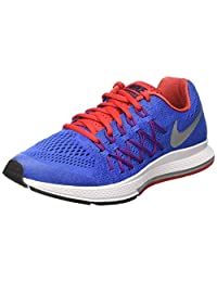nike zoom pegasus 32 (GS) running trainers 759968 sneakers shoes (7 Big Kid M, racer blue metallic silver 404)