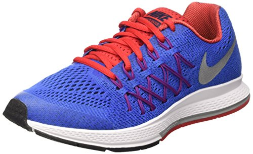 Nike Zoom Pegasus 32 (Gs), Zapatillas de Running Para Niños Azul / Plateado (Rcr Blue / Mtllc Slvr-Unvrsty Rd)