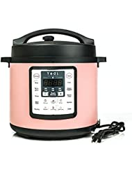 Limited Edition Pink Multi-Use Programmable Pressure Cooker, 6 Quart by Yedi Houseware