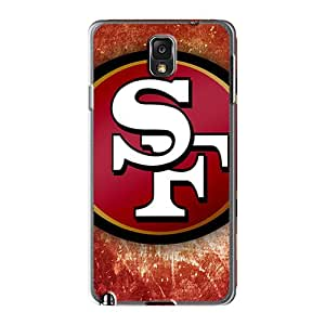 LauraAdamicska Samsung Galaxy Note 3 Great Cell-phone Hard Cover Custom Colorful San Francisco 49ers Logo Series [XSH7307vMti]