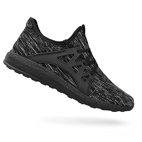 QANSI Negro Gris Zapatillas Zapatos Aire de Deporte Deportivos Libre Mujer para Gimnasia de Mujer al 6Tnq6rOgx