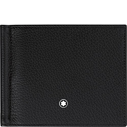 Montblanc Meisterstuck Men's Large Black Leather Card Holder Wallets ()