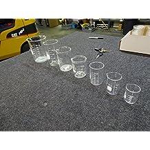 Set of 7 Pyrex & Kimax Beakers 1000 500 400 250 150 100 50 mL