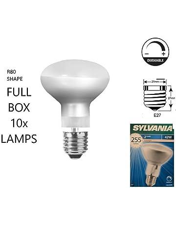 Halogène R80 dimmable clair Réflecteur Spot Lampe à Lumière ES E27 Ampoule 8x 70 W = 100 W