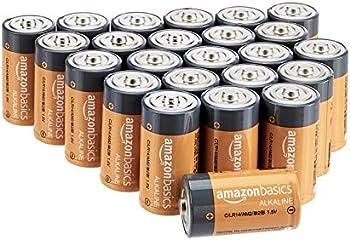 24-Pack AmazonBasics C Cell 1.5 Volt Everyday Alkaline Batteries
