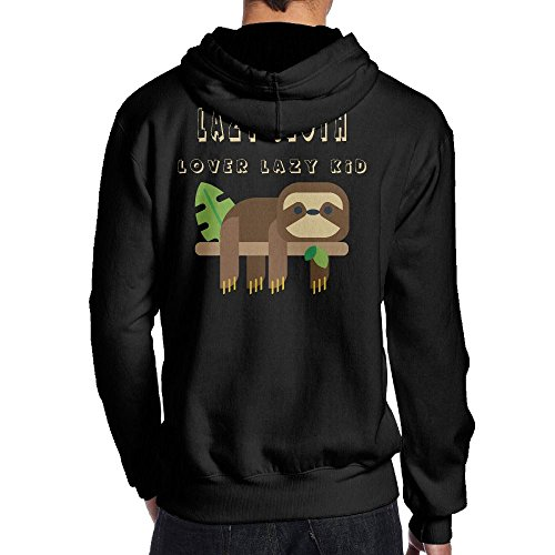 Good Vs Evil Halloween Costumes - Men's Lazy Sloth Hiphop Funny Hoodie Hoodies Size S Black