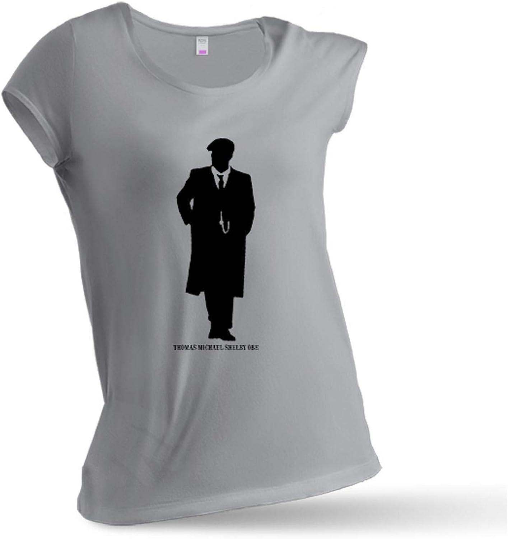 LABSALE Camiseta Mujer Gris Jaspeado BASADA EN Peaky Blinders ...