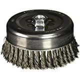 Bosch WB511 6-Inch Knotted Carbon Steel Cup Brush, 5/8-Inch x 11 Thread Arbor
