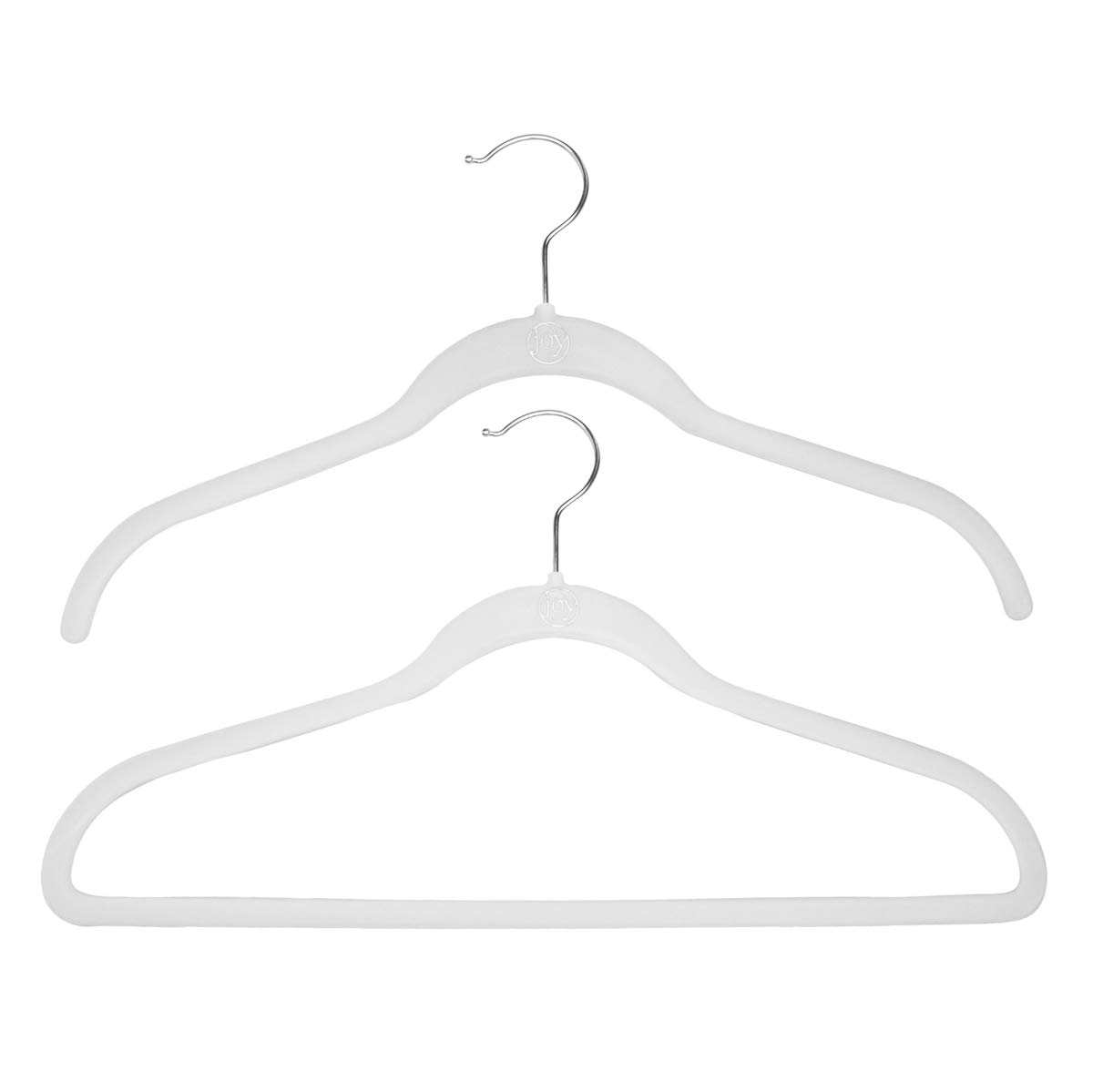 Joy Mangano 120 Pack White Huggable Hangers Non Slip Velvet Hangers Space Saving Clothes Hangers by Joy Mangano (Image #2)