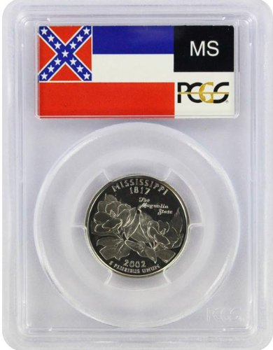 2002 Mississippi State S Clad Proof Quarter PR-69 PCGS