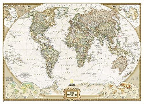 World executive mural flat wall maps world 3 parts reference world executive mural flat wall maps world 3 parts reference world amazon national geographic maps 9780792230342 books gumiabroncs Choice Image