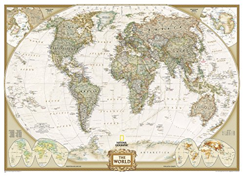(National Geographic: World Executive Mural Wall Map (106.25 x 76.5 inches) (National Geographic Reference Map))