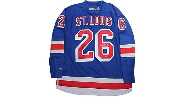 324d445aafa Martin St. Louis Signed New York Rangers Blue Premier Jersey w/Alternate  Captain