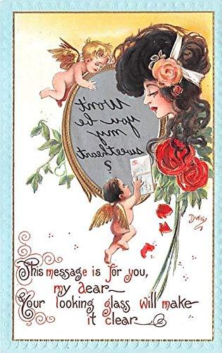 Artist Signed Dwig Dwiggins Post Card Series no. 30 Unused