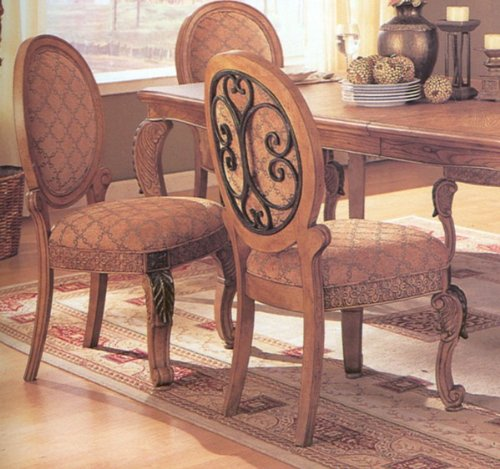 (Set of 2 Traditional European Style Formal Side Dining Chairs)