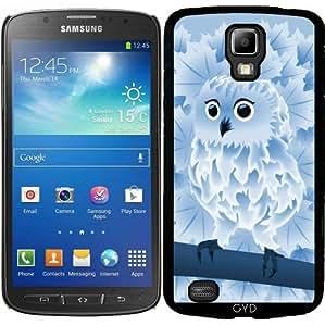 Funda para Samsung Galaxy S4 Active i9295 - Lindo Búho Azul by Nina Baydur